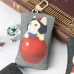 猫のフェルトコインケースチャーム 白雪姫