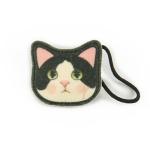 猫のヘアゴム 白黒