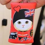 猫のミニミニポーチ・キーリング ロンドン