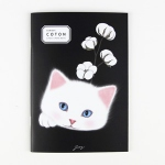 猫のシンプルノート2 A5 コトン