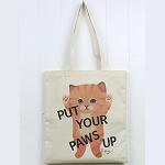猫のコットントートバッグ 茶トラ
