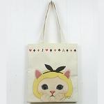 猫のコットントートバッグ アリス