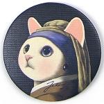 猫のミニミラー ターバン