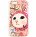 猫のiPhone7ハードケース ピンクずきん