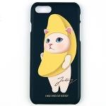 猫のiPhone7ハードケース バナナ