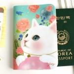 猫のパスポートケース3 白