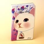 猫のコンパクト手帳 白