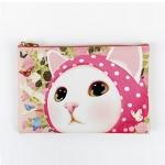 猫のスリムポーチ3 ピンクずきん
