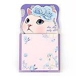 猫のスタンド型ふせん ブルーローズ