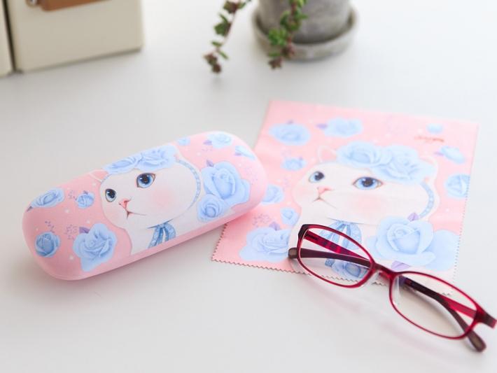 かわいいメガネケースと<br>メガネ拭きのセット♪
