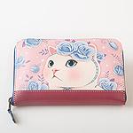 猫の長財布 ブルーローズ
