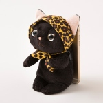猫のぬいぐるみ スマピタ レオパードずきん黒
