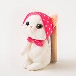 猫のぬいぐるみ スマピタ ピンクずきん