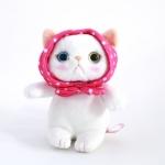 猫のぬいぐるみ ピンクずきん S