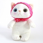 猫のぬいぐるみ ピンクずきん M