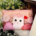 猫のスリムポーチ2 白