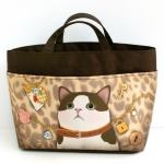 猫のバッグ・イン・バッグ 白茶