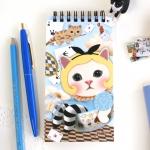 猫のリングミニノート カップ・イン・アリス