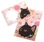 猫のレターセット2 黒