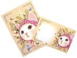 猫のレターセット2 ピンクずきん