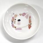 猫の小皿 白