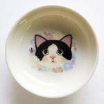 猫の小皿 白黒