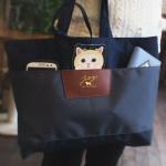 猫のパスケース付きトートバッグ アリス