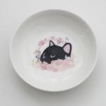 猫の小皿 黒