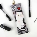 猫のコンパクトペンケース バンザイ