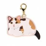 猫のコインケースチャーム 三毛
