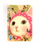 猫のウィンクカードケース ピンクずきん