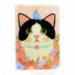 猫のウィンクカードケース 白黒