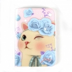 猫のウィンクカードケース ブルーローズ