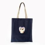 猫のマガジントートバッグ 白黒フラワー