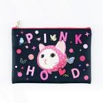 猫のミニクラッチ3 ピンクずきん