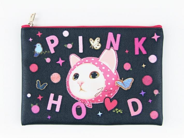 ピンク×ブラックの色合わせは甘すぎず、<br>choo chooも映えて、とってもキュート!