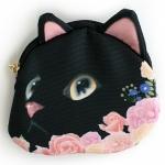 猫の小銭入れ 黒