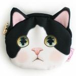 猫の小銭入れ 白黒