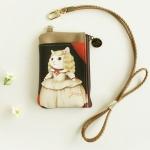 猫のコイン&パスケース ネックストラップ付き マルガリータ王女