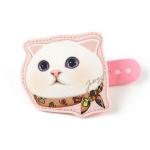 猫の顔型コードホルダー ネッカチーフ