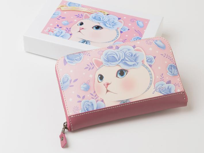 オリジナルの化粧箱に入れてお届けします♪<br>箱に貼ってあるお財布と<br>お揃いのシールが1枚おまけに付いています。