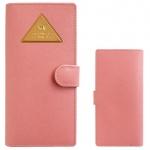猫のトライアングル カード札入れ ピンク