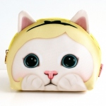 猫の顔型化粧ポーチ アリス