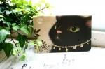 猫の通帳ケース 黒