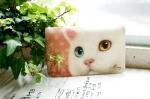 猫の通帳ケース 白