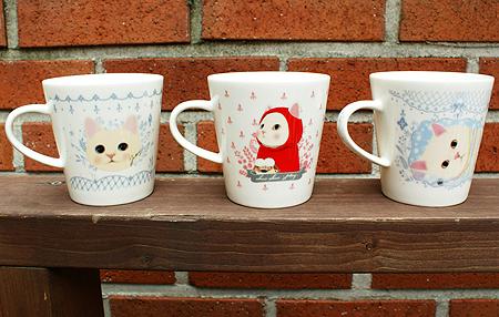 他のイラストの<br>猫のマグカップもご用意しております。