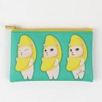 猫のスリムポーチ S バナナ