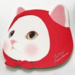 猫の顔型マウスパッド 赤ずきん