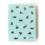猫の手帳 パステル ブルー