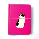 猫の手帳  ビビッド ピンク